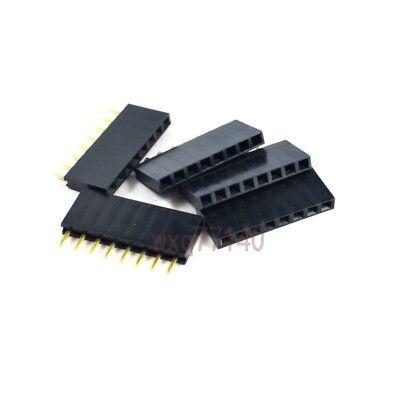 20pcs 2.54mm Pitch 1x 8 Pin Female Single Row Straight Header Connector Pcb Diy