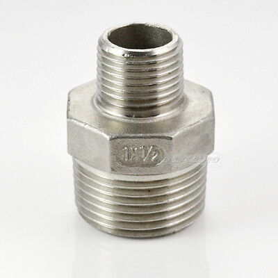 1x 12 Male To Male Hex Nipple Reducer Pipe Fitting Stainless Steel Sus304 Us