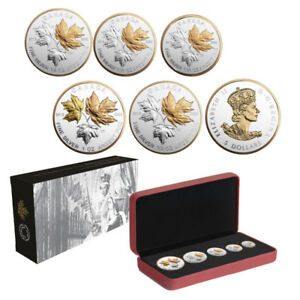 Canada  Silver Fractional Set - Maple Leaf - Reverse Proof  COIN
