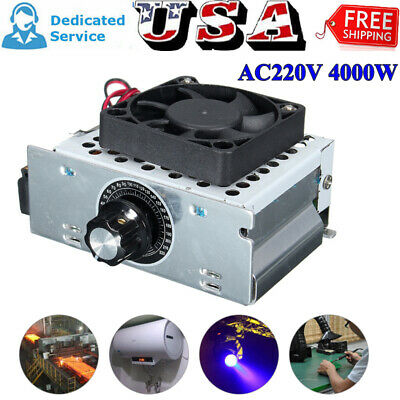 4000w Ac 220v Scr Variable Voltage Regulator Motor Speed Control Controller Fan