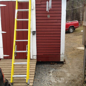 (3) 8ft featherlite extension ladders
