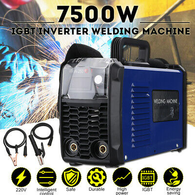 7500w 220v Mma-250 Amp Igbt Arc Electric Inverter Welding Machine Soldering Tool