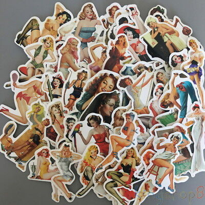 Retro Girls (Retro Girls Stickers Pack (x50) - Vinyl - Pin Up Women - Bumper - Sexy)
