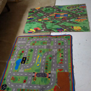 2x Toy Car Floor Maps