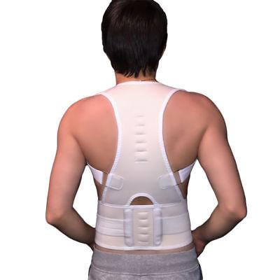 Rückenbandage Rückenhalter Haltungskorrektur Geradehalter Stabilisator Weiss