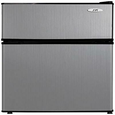3.1 cu.ft. Double Door Refrigerator with Energy Star - Stainless Steel ()