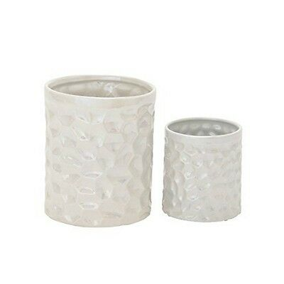 Benzara 93676 Gorgeous Ceramic Kitchen Utensil Holder Set of 2 NEW