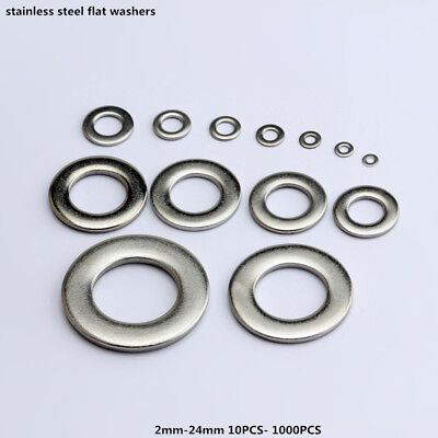 Assorted Stainless Steel Flat Washers Screws Hole 2mm To 24mm 10pcs-1000pcs