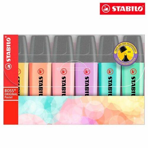 Stabilo Boss Pastel Highlighter - 6 color in Wallet