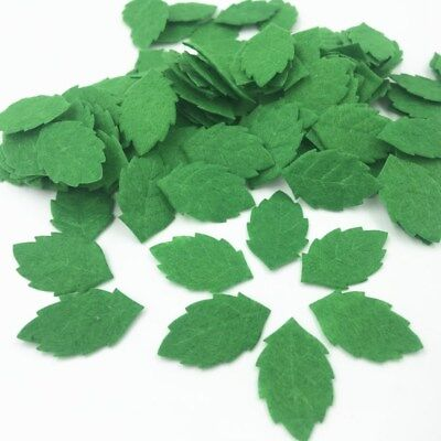 Felt Leaves (100pcs Green Leaves-shape Felt Card making decoration Sewing crafts)