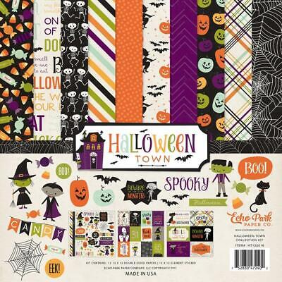 Halloween Falls Park (Echo Park HALLOWEEN TOWN 12x12 Collection Kit Pumpkin Fall Scrapbook)