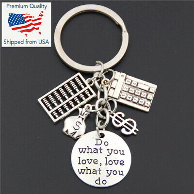 Accountant Bookkeeper Banker Loan Officer Money Keychain Charms Pendants Gift
