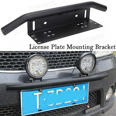 Front Bumper License Plate Mount Bracket Led Work Light Holder OffRoad SUV Car