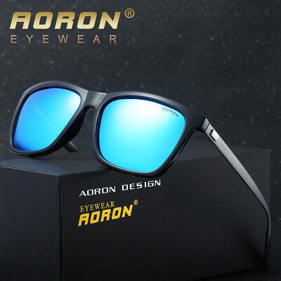 Männer Sonnenbrille HD Polarisierte Gläser Anti Glare UV400 Gespiegelte Brille