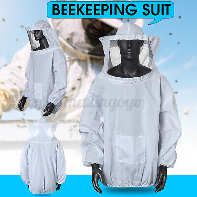 Beekeeping Jacket Veil Bee Keeping Suit Hat Pull Over Smock Protector Us Stock