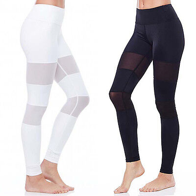 Athletic Apparel Women MESH Sport Gym Yoga Workout Stretchy Pants Leggings Long