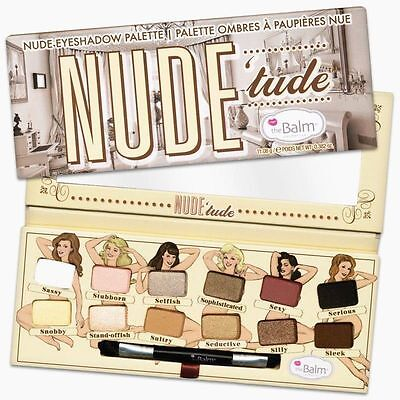 New 12 Colors The Balm Nude Tude Eyeshadow Shimmer Palette Eye Shadow Makeup Kit (Nude Makeup Kit)