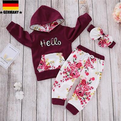 leinkind Mädchen Blumen Hoodies Tops T-Shirt + Hosen Outfits Set (Kleinkind Mädchen)