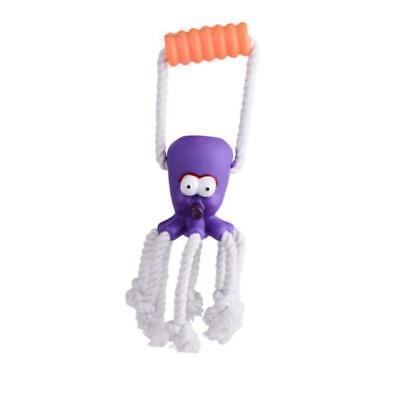 Durable Dog Cat Cotton Rope Toy Octopus Puppy Chew Interactive Toys Squeaker