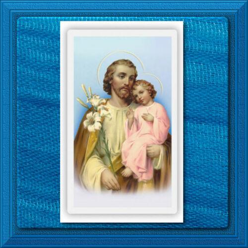 St Joseph LAMINATED Wallet Size Holy Catholic Card Novena Prayer to Saint Joseph