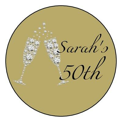 (12) gold 40th 50th 60th 70th 80th 90th birthday party stickers round diamonds](80th Birthday Party)