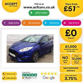 Ford Fiesta 1.6 ( 182ps ) EcoBoost 2014.5MY ST 2 FROM £57 PER WEEK.