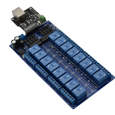 Ethernet Control Module With 16ch Relay For Lan Wan Web Server Rj45 Android Ios