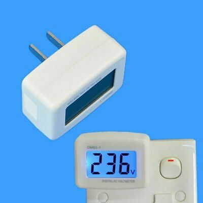 Led Digital Plug In Voltage Meter Voltage Testers Wall Flat Switch Ac Voltmeter