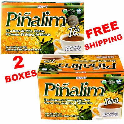 2 Te Pinalim Tea Gn Vida Envio Gratis 60 Days Pinalim Pineapple Diet  Free Ship
