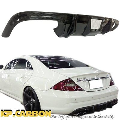 For W219 BENZ 06-10 CLS55 CLS63 Bumper Carbon Fiber TMS Rear Diffuser Body Kit for sale  Shipping to Canada