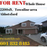 2200 sft house for rent west Abbotsford