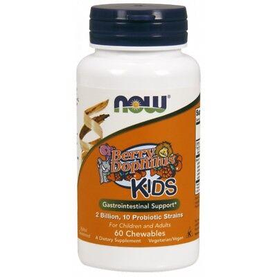 NOW FOODS, BERRYDOPHILUS KIDS. 2 Billion Probiotische, 60Lutschta EXTRAPREIS