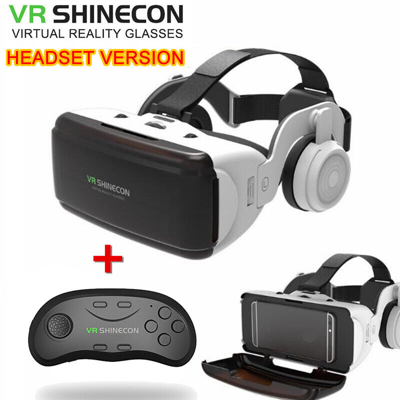 360° 3D Virtual Reality VR Headset Box With Remote Controller For Android iPhone