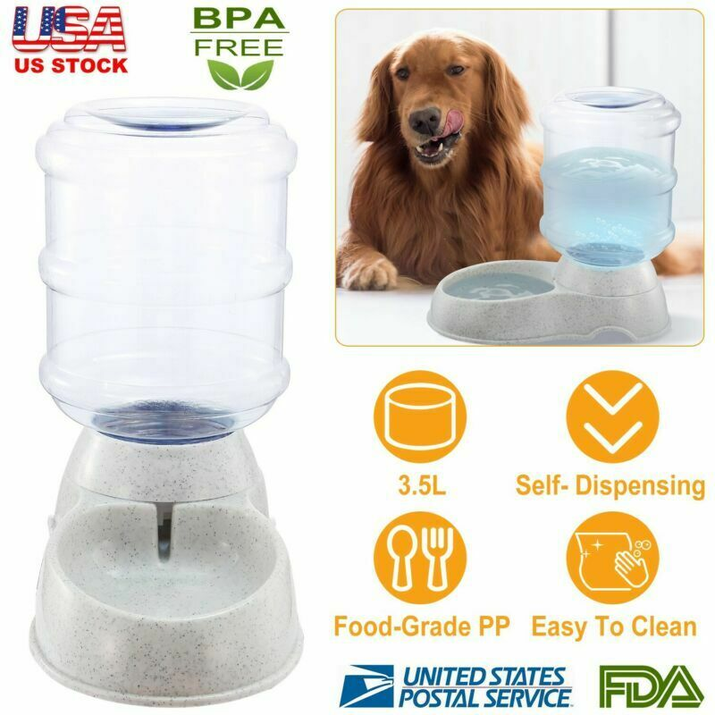 Dog Auto Waterer 1 Gallon Automatic Water Dispenser Cat Pet Drinking Fountain