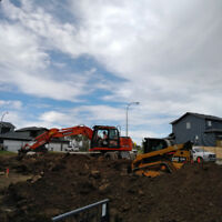 Excavating, trucking, Bobcat and loader services