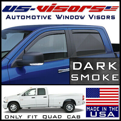 US-Visors In-Channel Window Vent Visors fit 2003-2009 Dodge Ram 3500 Quad Cab
