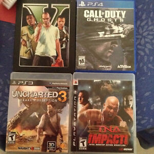 Playstation 3 and 4 games