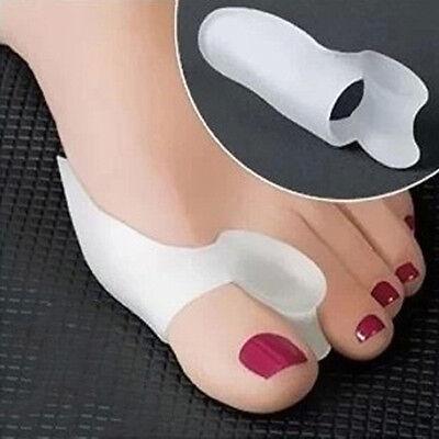 2pcs Silicone Gel Bunion Toe Corrector Orthotics Straightener Separator Pain