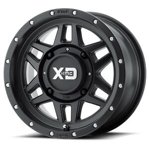 "14"" & 15""  XS128 Machete Satin Black KMC Wheels by Wheel Pros"