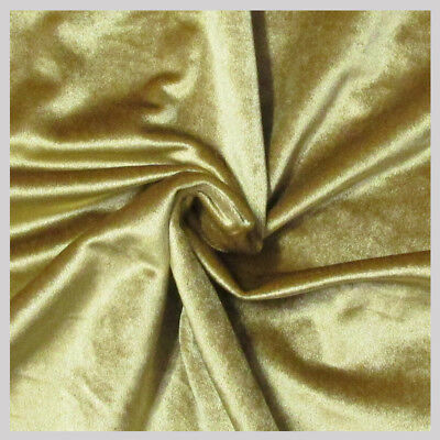 5 yards Velvet Fabric 58 inches wide sold bty for upholstery & drapery Gold