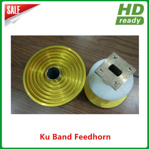 Prime Focus Ku band single polarity LNB feedhorn 9 Ring with WR75 waveguide