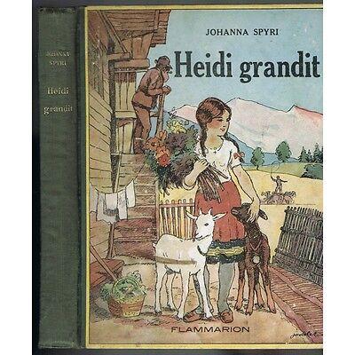 HEIDI grandit avec fin inédite traducteur de Johanna SPYRI Illustré JODELET 1937