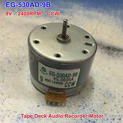Eg-530ad-9b Dc 9v Ccw Tape Deck Recorder Round Motor Audio Spindle Capstan Motor
