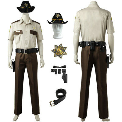 The Walking Dead Cosplay Sheriff Rick Grimes Costume Custom - Sheriff Rick Grimes Kostüm