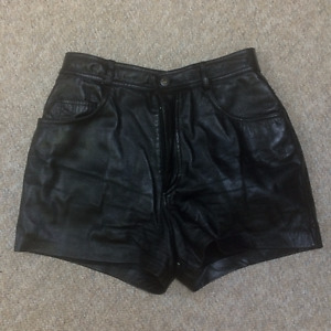 LEATHER HIGH-WAISTED SHORTS Good Condition (size 12 CAN, 14 US)
