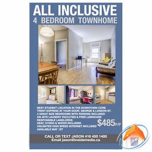 LOCATION! LOCATION! LOCATION ! ALL INCLUSIVE 4 BEDROOM TOWNHOUSE