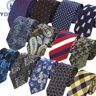 Luxury 7CM Classic Men's Ties Floral Striped Formal Necktie Neck tie Accessories