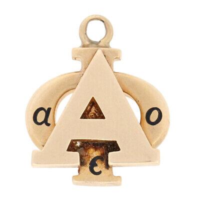 Alpha Iota Pendant - 14k Yellow Gold 1933 Sorority Greek Society Charm