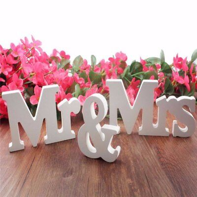 Mr & Mrs Letters (Mr and Mrs Wedding Wooden Sign Wood Letters Decor Decoration Table Top)