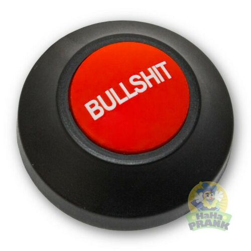 Large Bullshit BS Button - Solution to Bullshit In The Air! Funny Joke Prank Gag